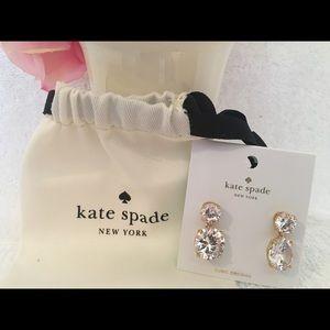Kate Spade Drop Crystal Earrings ~ New Style~ NWT